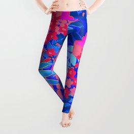 Vibrant Flower Print Leggings