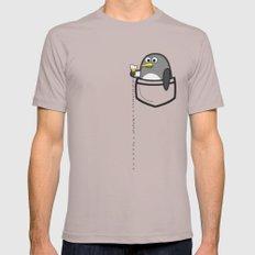 Pocket penguin enjoying ice cream Cinder Mens Fitted Tee 2X-LARGE
