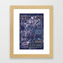 Sugar Black Rose Framed Art Print