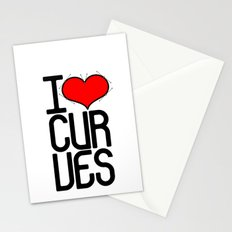 I heart curves Stationery Cards