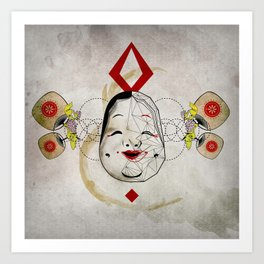 J_mask Art Print