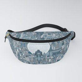 space city mono blue Fanny Pack