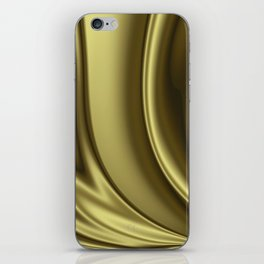 Abstract Fractal Colorways 02 Simple Gold iPhone Skin