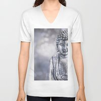 buddha V-neck T-shirts featuring Buddha by LebensART Photography