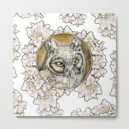 Eagle owl2 Metal Print
