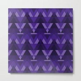 Geometric - Violet Metal Print