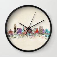 tennessee Wall Clocks featuring memphis tennessee by bri.b