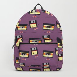 Floppy disk and cassette tape Backpack