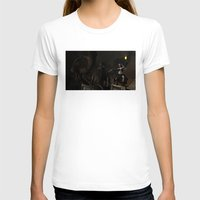 steam punk T-shirts featuring Steam Punk - Dragon Duel by J. Ekstrom