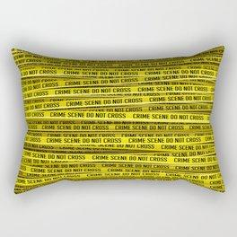 Crime scene / 3D render of endless crime scene tape Rectangular Pillow
