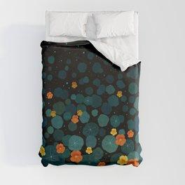 Nasturtium Garden Duvet Cover
