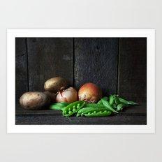 Vegetable Still Life. Art Print