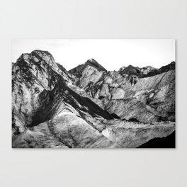 Black Dust on Solheimajokull Canvas Print