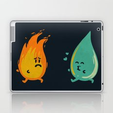 Impossible Love (fire and water kiss) Laptop & iPad Skin