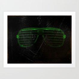 Electro Glasses Art Print