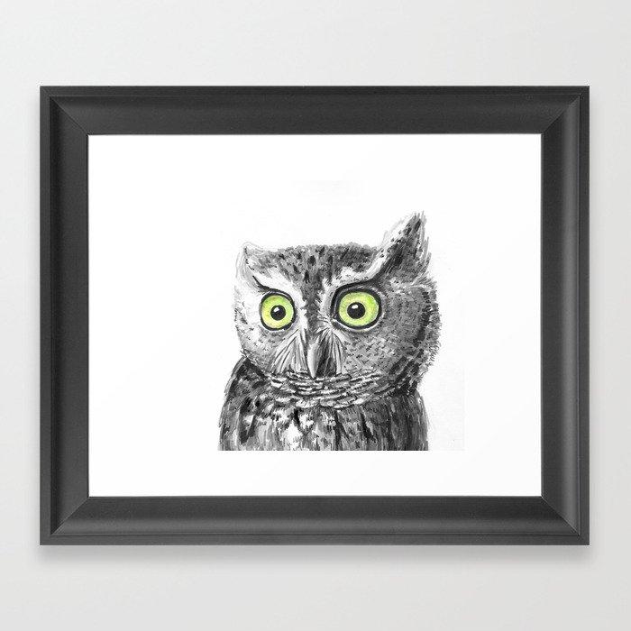 Owl portrait Gerahmter Kunstdruck