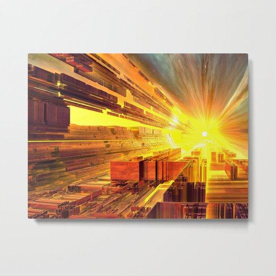 Retro Future Perfect Metal Print