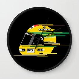 Ayrton Senna Helmet Wall Clock