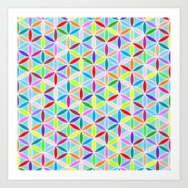 Flower of Life Pattern – Multicoloured Art Print