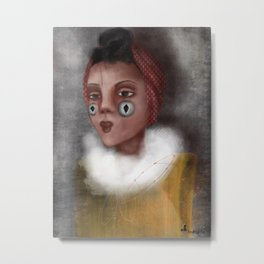 Paulina, the Clown Metal Print