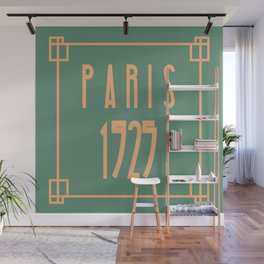 Paris 1925 Art Deco Exposition Framed Typography Tribute Wall Mural