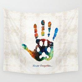 Rainbow Bridge Art - Never Forgotten - By Sharon Cummings Wall Tapestry