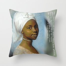 African Beauty Tote Throw Pillow