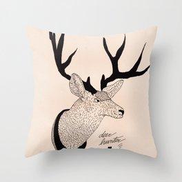 Deerhunter Throw Pillow