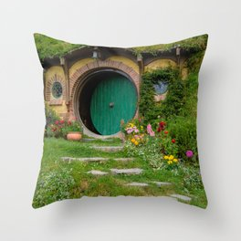Green Magical Home, New Zealand Throw Pillow