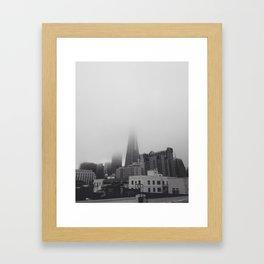 Foggy San Francisco Framed Art Print