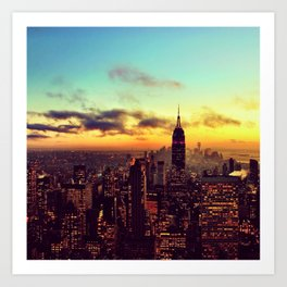 Top of the Rock I Art Print