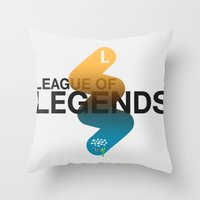league of legends Throw Pillows featuring League of Legends by Thomas Official