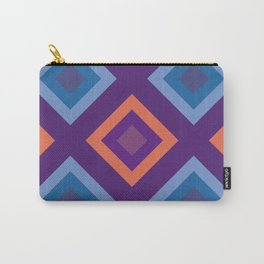 Purple And Blue Diamond Shade Geometric Patterns Carry-All Pouch