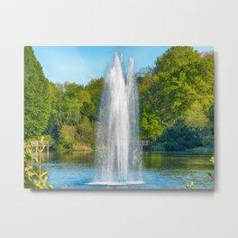 Sparkling Fountain Metal Print