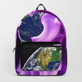 Electric Neon Light Across the World Backpack