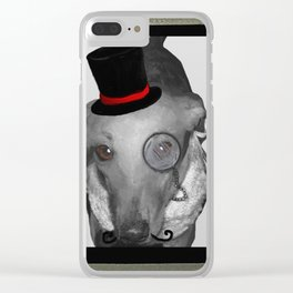 Like A Boss - Bobby Sausage - B.Long Dachshund Clear iPhone Case