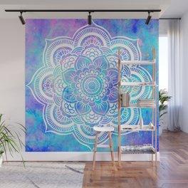 Mandala Pink Lavender Aqua Galaxy Space Wall Mural