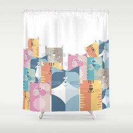 Too Many Cats? Shower Curtain