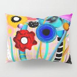Yellow Polka Dots Floral Bouquet Pillow Sham