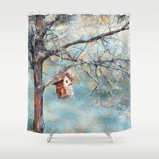 A Chickadees Home Shower Curtain