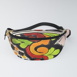 Beautiful Red and Green Talavera Fanny Pack