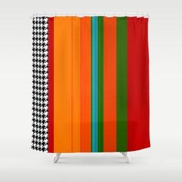 VIVID ART-DECO PATTERN Shower Curtain