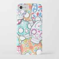 sugar skulls iPhone & iPod Cases featuring skulls sugar by wet yeti