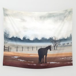 Misty Morning Wall Tapestry
