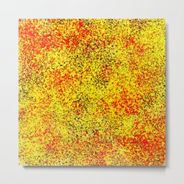 Flame - Abstract, red, yellow and black artistic representation of fire Metal Print