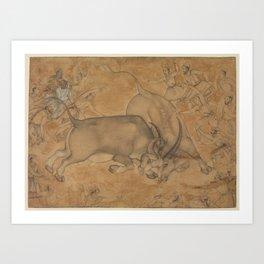 Buffaloes in Combat Art Print