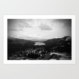 Donner Lake In The Winter Art Print