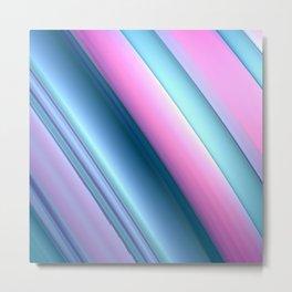Blue and Pink Swoosh Metal Print