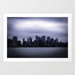Moody city Art Print