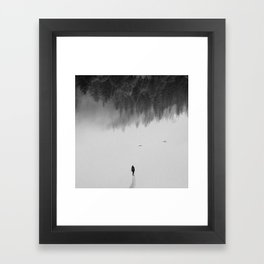 Silent Walk Framed Art Print
